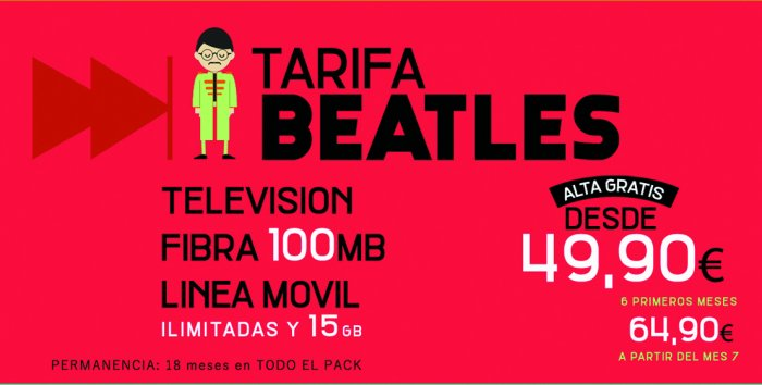 TARIFA BEATLES