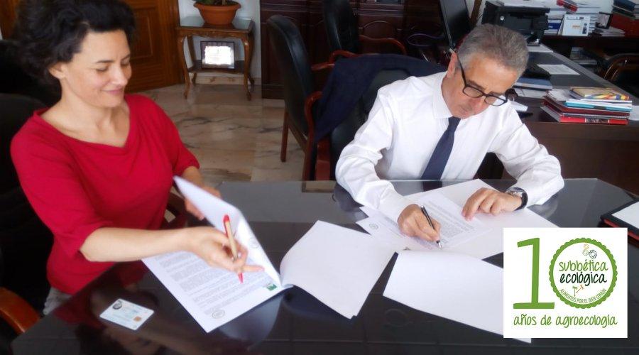 Subbética Ecológica rubrica convenios institucionales con Mancomunidad de la Subbétiva y la Diputación de Córdoba