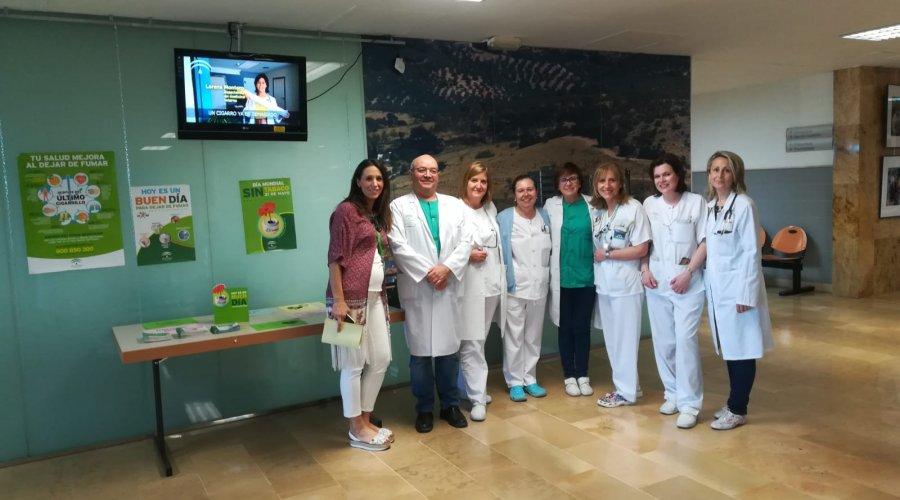 El Área de Gestión Sanitaria Sur de Córdoba celebra la Semana sin Humo con motivo del Día Mundial sin Tabaco