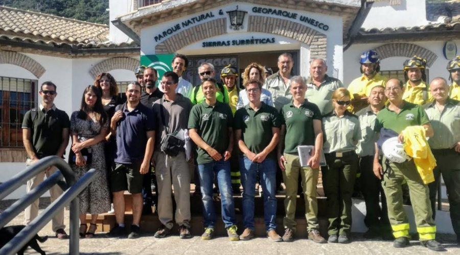 Araceli Cabello recibe a los evaluadores de la Unesco para la revalidación de Sierras Subbéticas como Geoparque Global