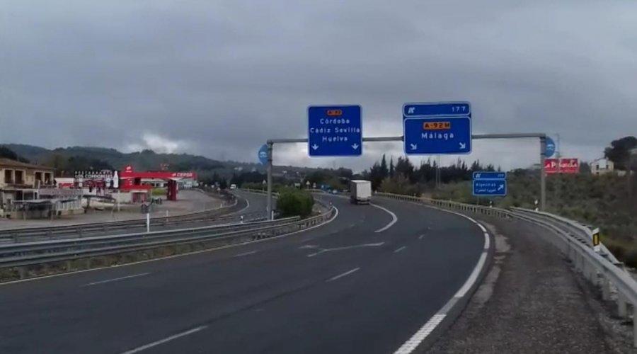 El tráfico en las carreteras autonómicas cae un 70 por ciento durante el Estado de Alarma